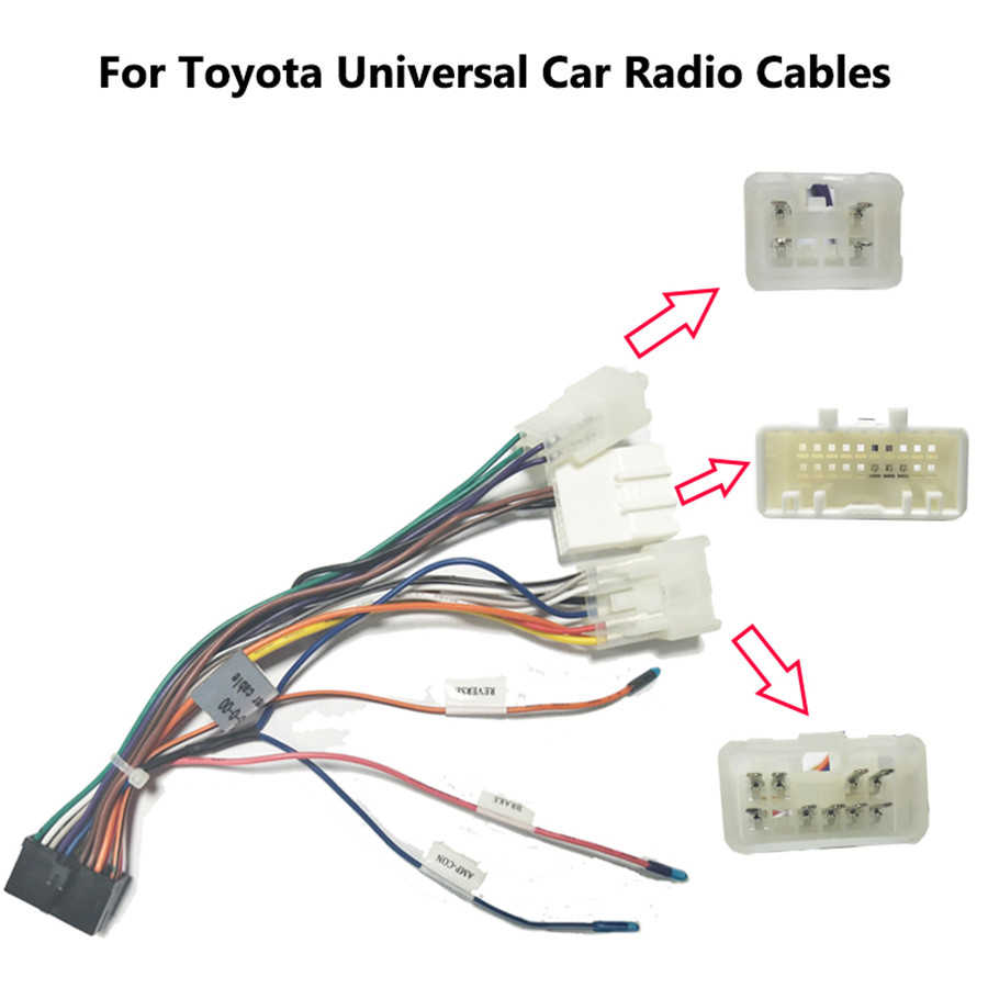 20 pin wiring harness connector adapter 1din or 2din android power cable harness suitable for toyota [ 900 x 900 Pixel ]