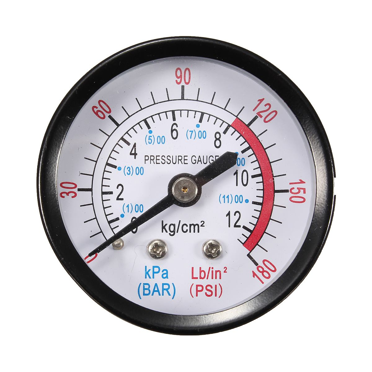 Bar Air Pressure Gauge 13mm 1/4 BSP Thread 0-180 PSI 0-12 Manometer Double Scale For Air Compressor