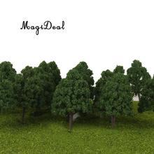 25 шт. 1:150 миниатюрные пластиковые модели деревьев для модели железной дороги N масштаб поезд макет деревенский пейзаж архитектурная диорама