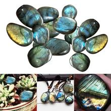 Natural Labradorite Crystal Raw Gemstone Ornament Polished Fish Tank Healing Decorating Stone Colorful Suitable For DIY Bracelet