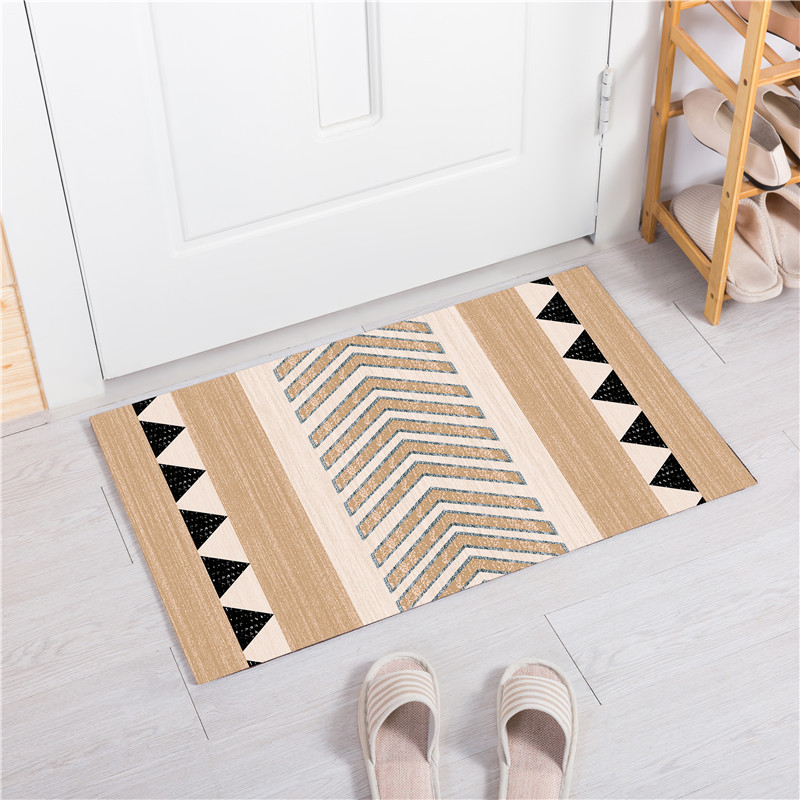 US $7.74 27% OFF|Europe Geometry Doormat Striped Kitchen Rugs Size 40X60CM  Living Room Bedroom Bath Non slip Mats Home Decor tapete porta batom-in Rug  ...