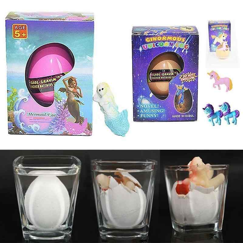 Magic Hatching Egg Of Mermaid And A Imaginary Animal With Horn Pets Children Kids Gift Toy Revivable Egg Animal Growing In Water
