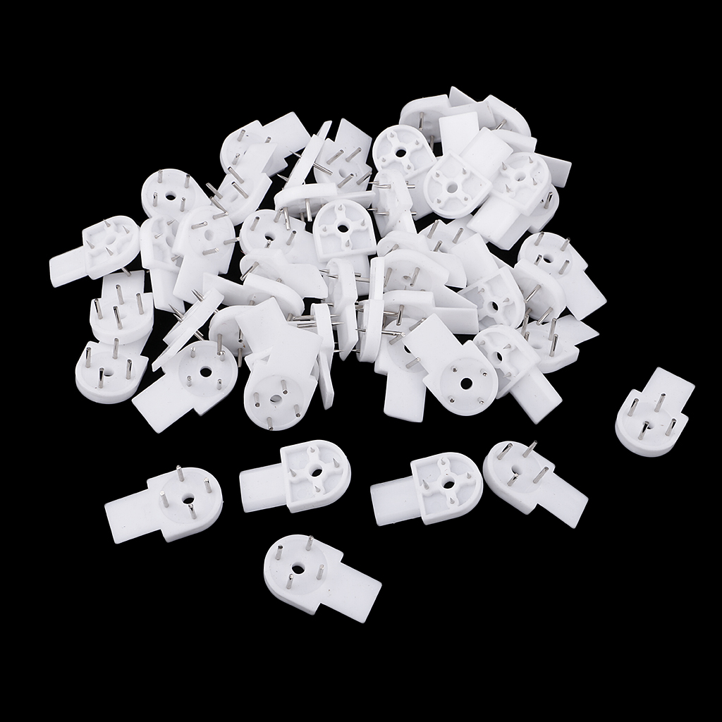50PCS White Plastic Invisible Hard Wall Mount Photo Picture Frame Nail Hook Hanger Hard Picture Frame Wall Hooks 34x19mm