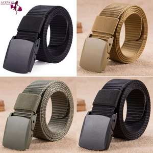 d83cd7a6600 Buckle Metal Belts Unisex Casual Nylon Green Black Army