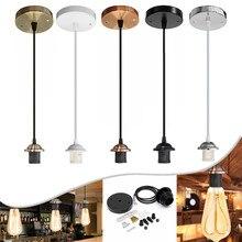 E27 светильники интерьерная люстра с потолочной люстра ремесло винт потолок Роза лампа ПВХ ткань гибкий светильник AC110V