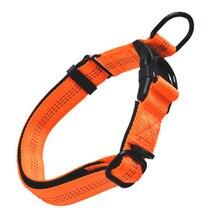 43-60 см удобный регулируемый нейлоновый ремень ошейник для больших домашних животных ошейники для собак 5 цветов красный/серый/черный/зеленый/оранжевый