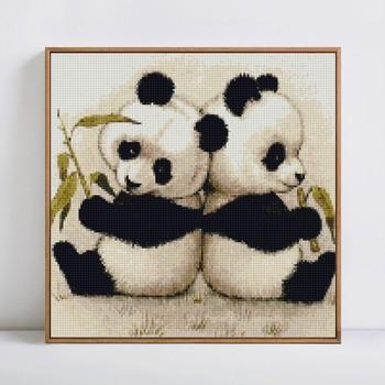 HUACAN 5D DIY Diamond Painting Panda Diamond Mosaic Animal Full Square Drill Diamond Embroidery Handmade