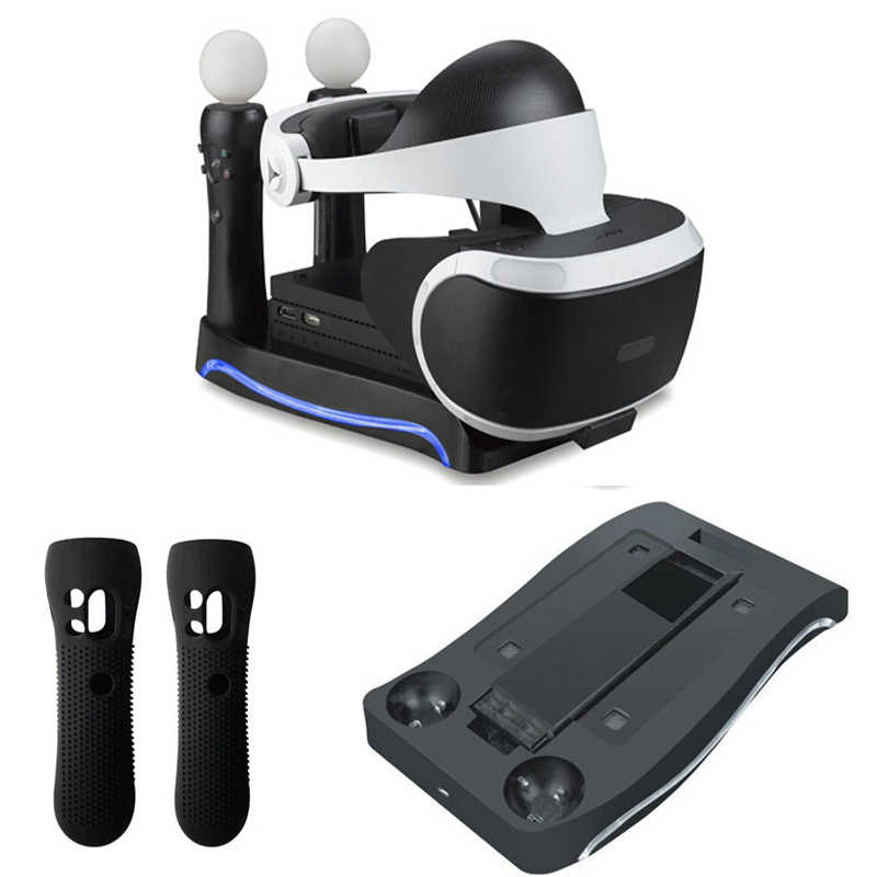 For Psvr Ps4 Vr Ps Vr Headset Cuh-Zvr2 2Th Generation Ps Move Charging Station Display Stand Showcase Storage Holder Accessori