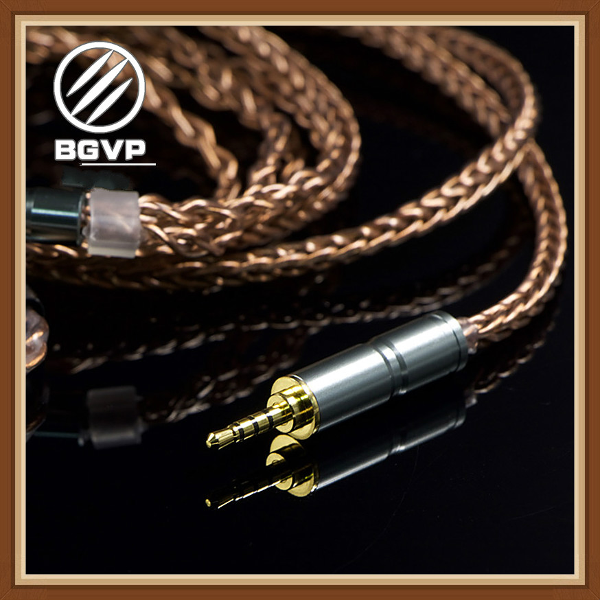 BGVP 6N 400 Core Earphones  OCC Cable 2.5mm 3.5mm DIY Cable Aficionados MMCX Interchangeable Hifi Headphone Upgrade Cable DM6-in Earphone Accessories from Consumer Electronics    1