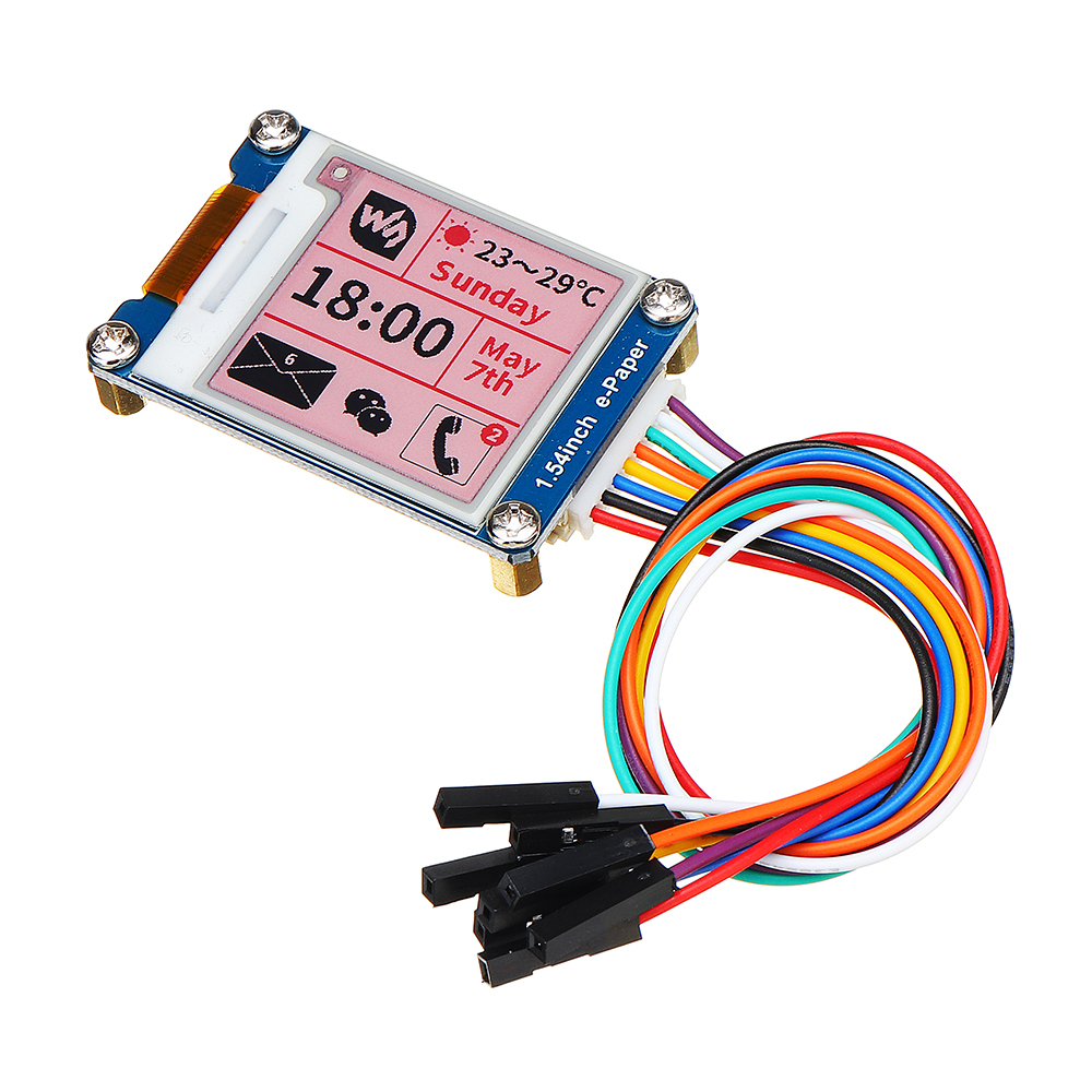 1.54/'/' e-Paper E-ink Display Module 200x200 Pixels For Raspberry Pi //Arduino