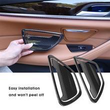 4 шт.. карбоновый стиль автомобиля задняя дверь ясень накладка рамка украшения наклейки для BMW 5 серии G30 2018-2017 автомобильные аксессуары