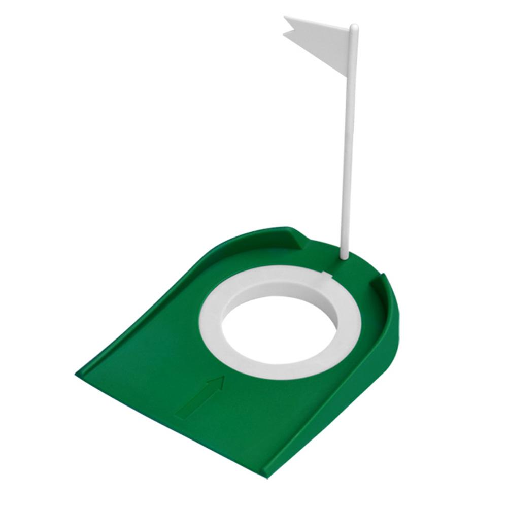 Plastic Golf Hole Putting Cup Device With Flag Outdoor Indoor Practice Golf Training Aids Tool Accessory Adjustable Hole