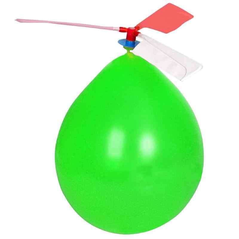 บอลลูนใบพัดของเล่นเด็ก DIY กลางแจ้งบอลลูนเฮลิคอปเตอร์ Airballoon เครื่องบินเด็กสนุกของเล่นเครื่องบินของเล่น
