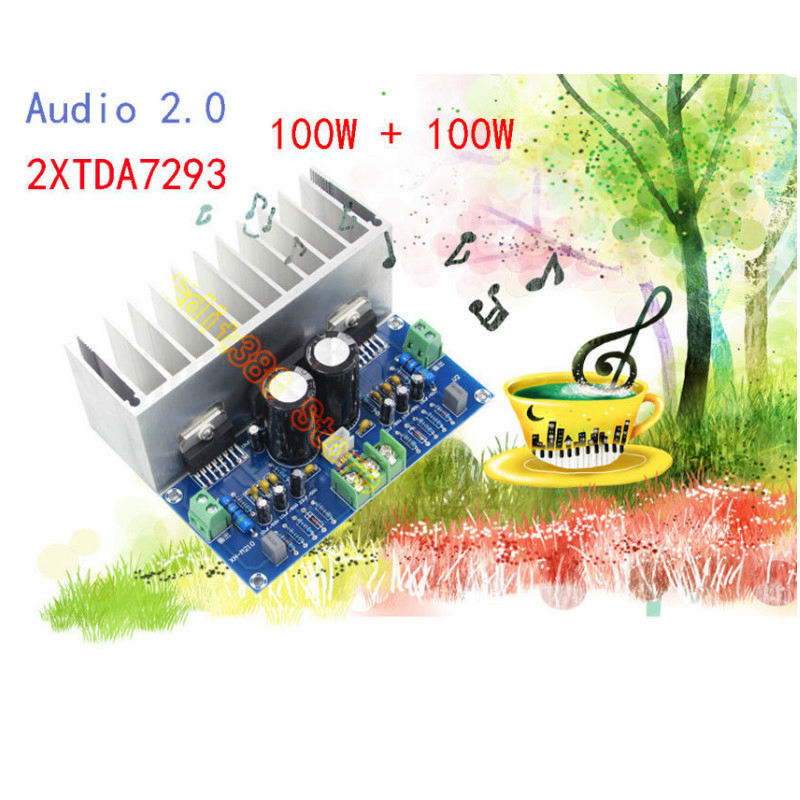 Image 5 - TDA7293 Audio Amplifier Board 100Wx2 Digital Stereo Power Amplifier Board With Heatsink Dual AC12 32V-in Amplifier from Consumer Electronics
