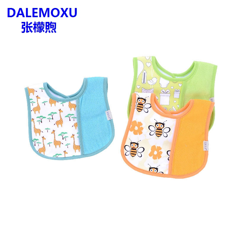 DALEMOXU Cute Bee Baby Bandana Drool Bib Adjustable With Snaps Owl Soft Cotton Girls Boys Burp Cloth Infant Toddler Saliva Towel