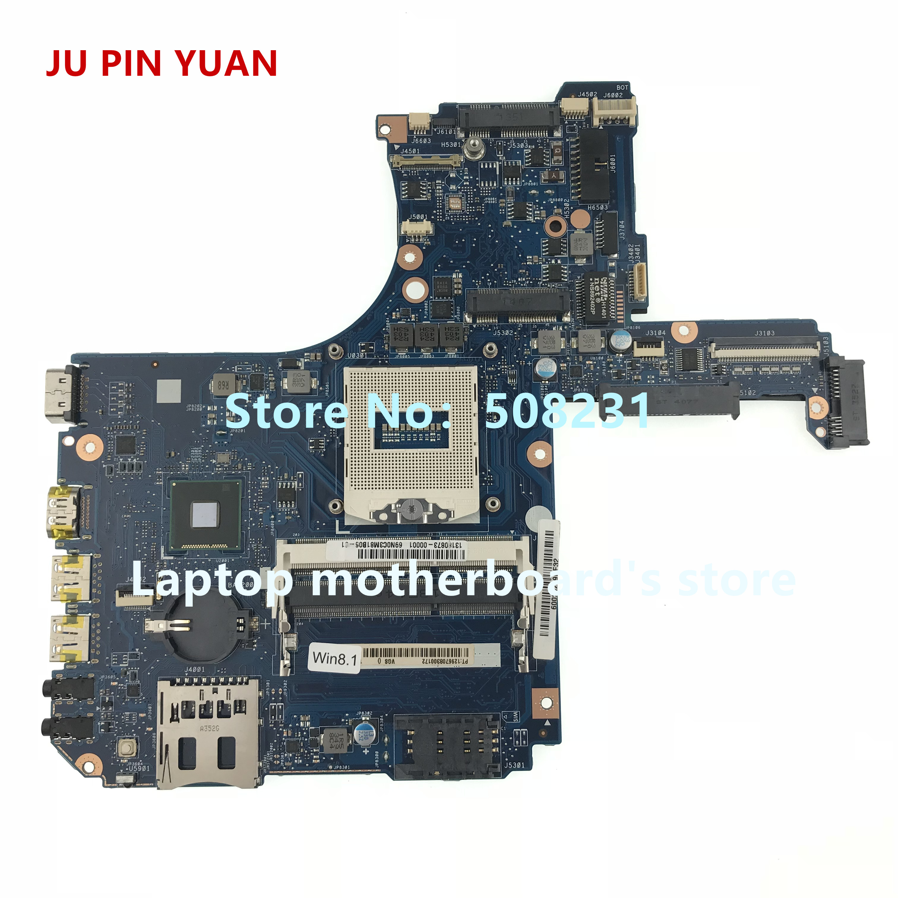 JU PIN YUAN H000055990 mainboard For Toshiba Satellite P50-A P50T-A P55-A laptop motherboard socket PGA 947 HM86 DDR3LJU PIN YUAN H000055990 mainboard For Toshiba Satellite P50-A P50T-A P55-A laptop motherboard socket PGA 947 HM86 DDR3L