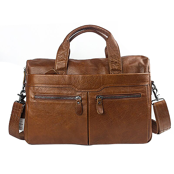 MVA Handbag Shoulder Briefcase Leather Business Men's Bag Leather Shoulder Bag