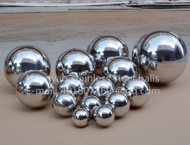 Silver Dia 200mm 20cm 304 z nerezové oceli duté kuličky bezproblémové zrcadlo míč rodina nádvoří interiér dekorace koule plovák