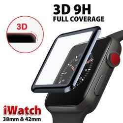 3D 풀 Cover 강화 (gorilla Glass) 대 한 Apple Watch 38 미리메터 40 미리메터 44 미리메터 42 미리메터 Screen Protector 9 H 헬멧에서 범위의 대 한 iWatch Series 4 2 1 (gorilla Glass) Flim