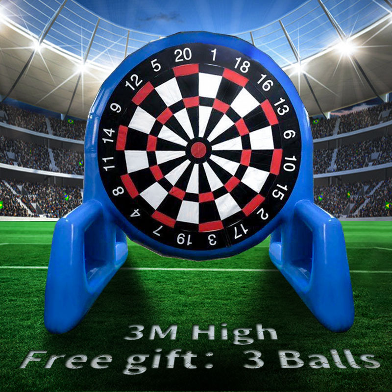 3 Meters Giant High Inflatable Football Dart Board Soccer With 3 Ball Air Blower Outdoor Sports Games Inflatable Dart Board Game3 Meters Giant High Inflatable Football Dart Board Soccer With 3 Ball Air Blower Outdoor Sports Games Inflatable Dart Board Game