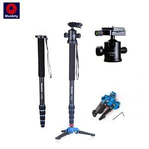 "Image 1 - Manbily A 222 165cm/65"" Portable Professional DSLR Camera Monopod&M 1 Base head ball Mini tripod Stand For Canon Nikon phone DV"