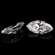 3*6mm  marquise cut White Moissanite Stone 0.21 carat for Jewelry