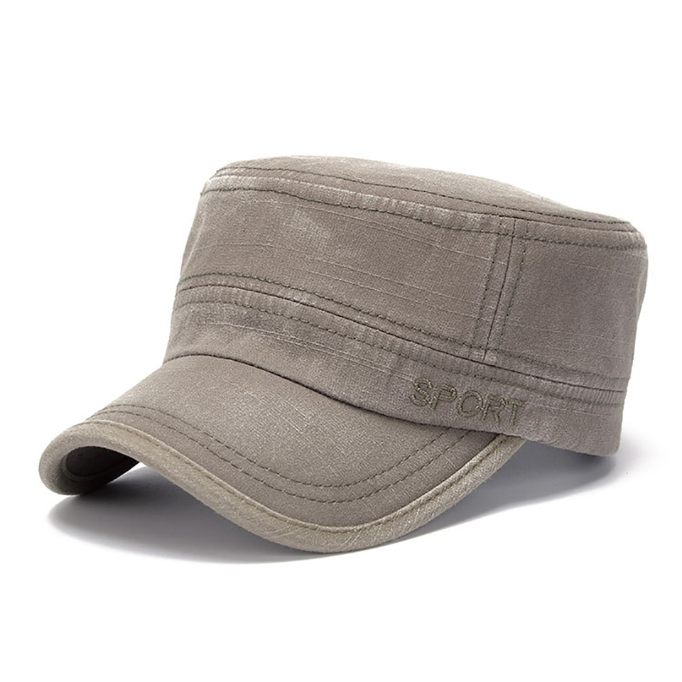 43ccd4f29 Classic Flat Top Men Caps Hat Cotton Distressed Army Cap Male Casual Warm  Military Hats Outdoor Shading Fashion Hat