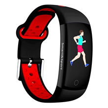 Q6S Smart Bracelet Colors 3D dynamic Blood Pressure Heart Rate Monitor Smartband Wristband Waterproof Sports Fitness Watch Ban