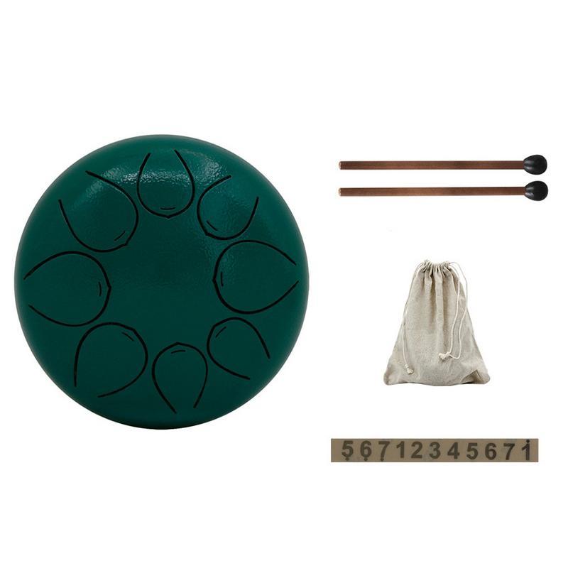Tambour à langue en acier de 5 pouces, Mini tambour à tambour avec tambour, sac de transport, Instruments à Percussion