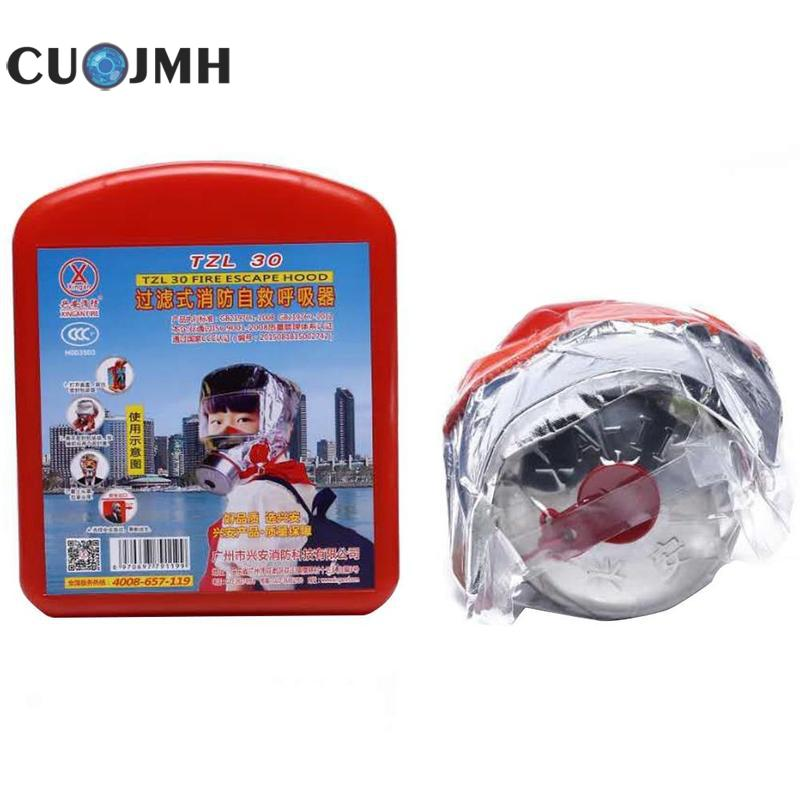 Children Fire Rescue Breathing Apparatus Gas Mask Fireproofing Smoke Fire Mask Safety And Survival Tools
