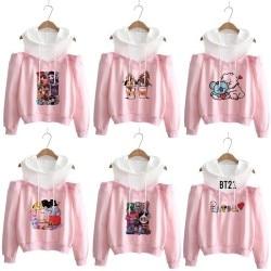 Hoodie kpop Hoodies Women Femele Pullover cartoon Sweatshirts For female k pop Highstreet K-pop Hooded 1