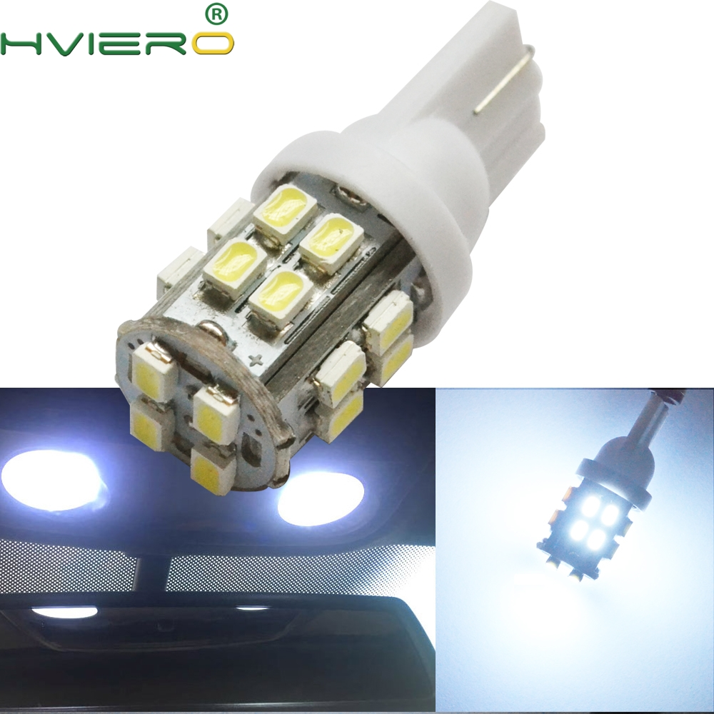 20SMD 1206 White Auto Wedge Light LED 3020 194 168 Truck Trailer RV License Plate Clearance Lamp Reading Bulb DC 12v