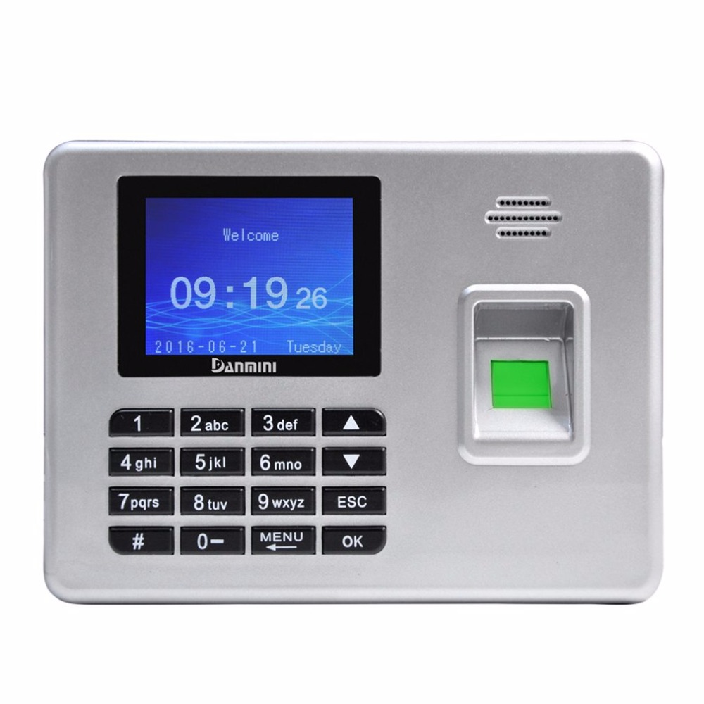 Danmini 2.8 Inch TFT Screen A3 Attendance Fingerprint Time Attendance Machine