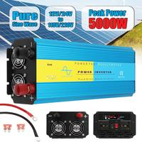 Pure Sine Wave Inverter 12V 220V 2500W 5000W Pe ak Voltage Transformer Converter DC12V/24V AC 110V/220V LCD Inverter 50Hz/60Hz