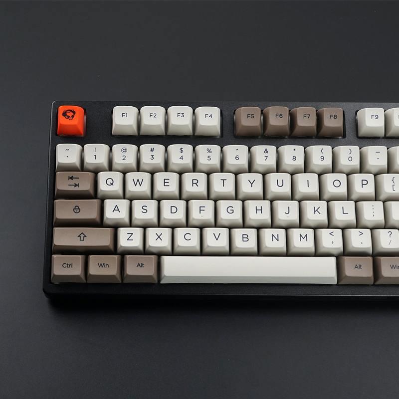 Mechanical Keyboard Keycaps Steam Engine 108 Key SA Profile PBT Keycap Set for