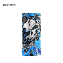 Vapor Storm ECO Pro 80w Box Mod TC Vape Graffiti Color OLED Screen Without 18650 Battery Punk Rock E Cigarettes for Hawk RDA