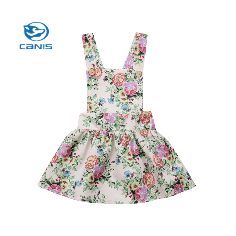 Infant Baby Girls Summer Sleeveless Skater Dress Princess Party Floral Dresses