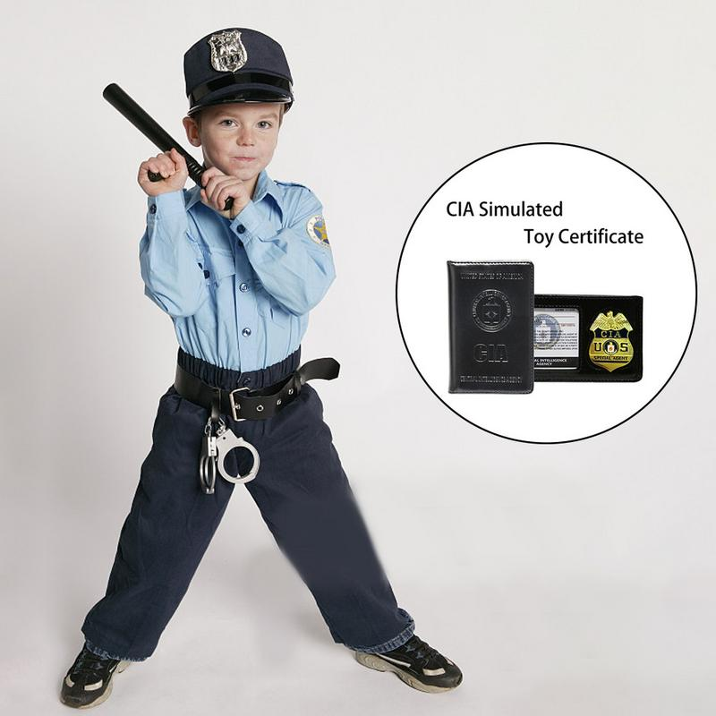 Children Toy Special Police Print Chain Officer Badges Card Cosplay Costume Tool