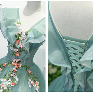 Image 4 - Party Art Performance Stage Solo Costume Chorus Dress Embroidered Dames Couture Noble Elegant Gown Birthday
