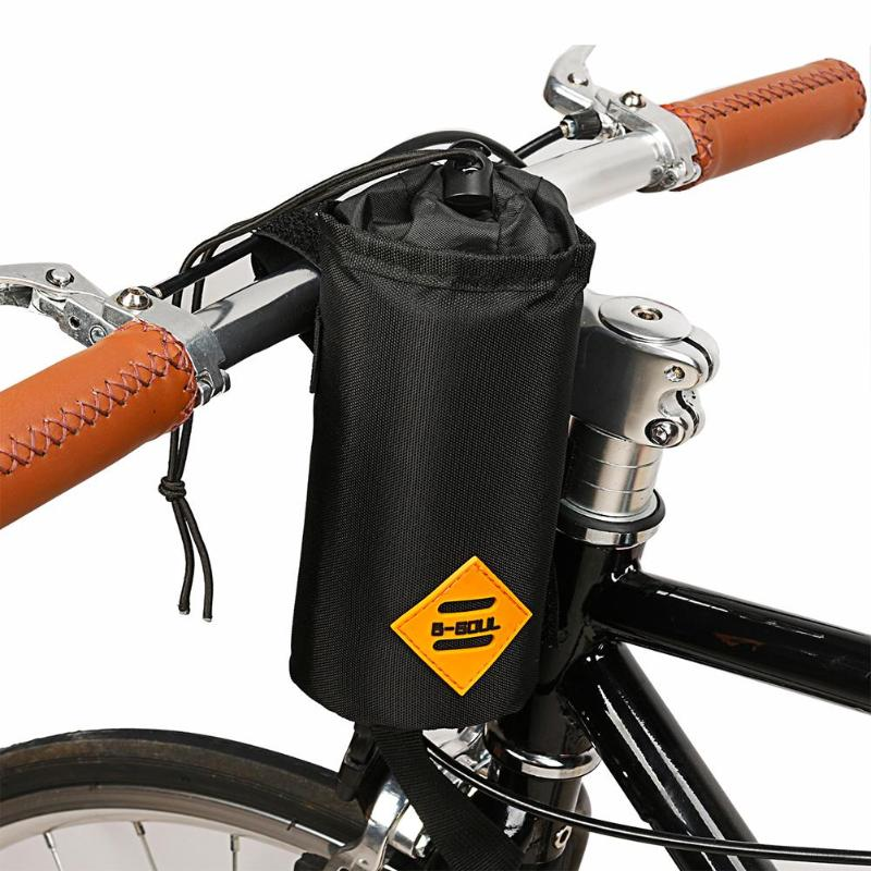 B SOUL Road Bike Front Handlebar Water Bottle Insulation Bag Cycling Bicycle Cup Bottle Pouch for Mobile Phone Keys Gadgets Case