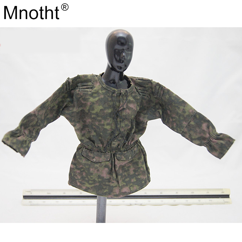 Toys & Hobbies Mnotht 1/6 Scale 3r Wwii German Spring Mist Mint Camouflage Smock Edge Model Female Soldier Shirt Toy For 12 Action Figure For Sale