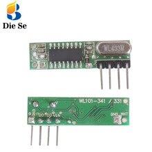 Module récepteur sans fil 433Mhz Module récepteur sans fil superhétérodyne 433MHZ sans fil pour récepteur relais arduino bricolage