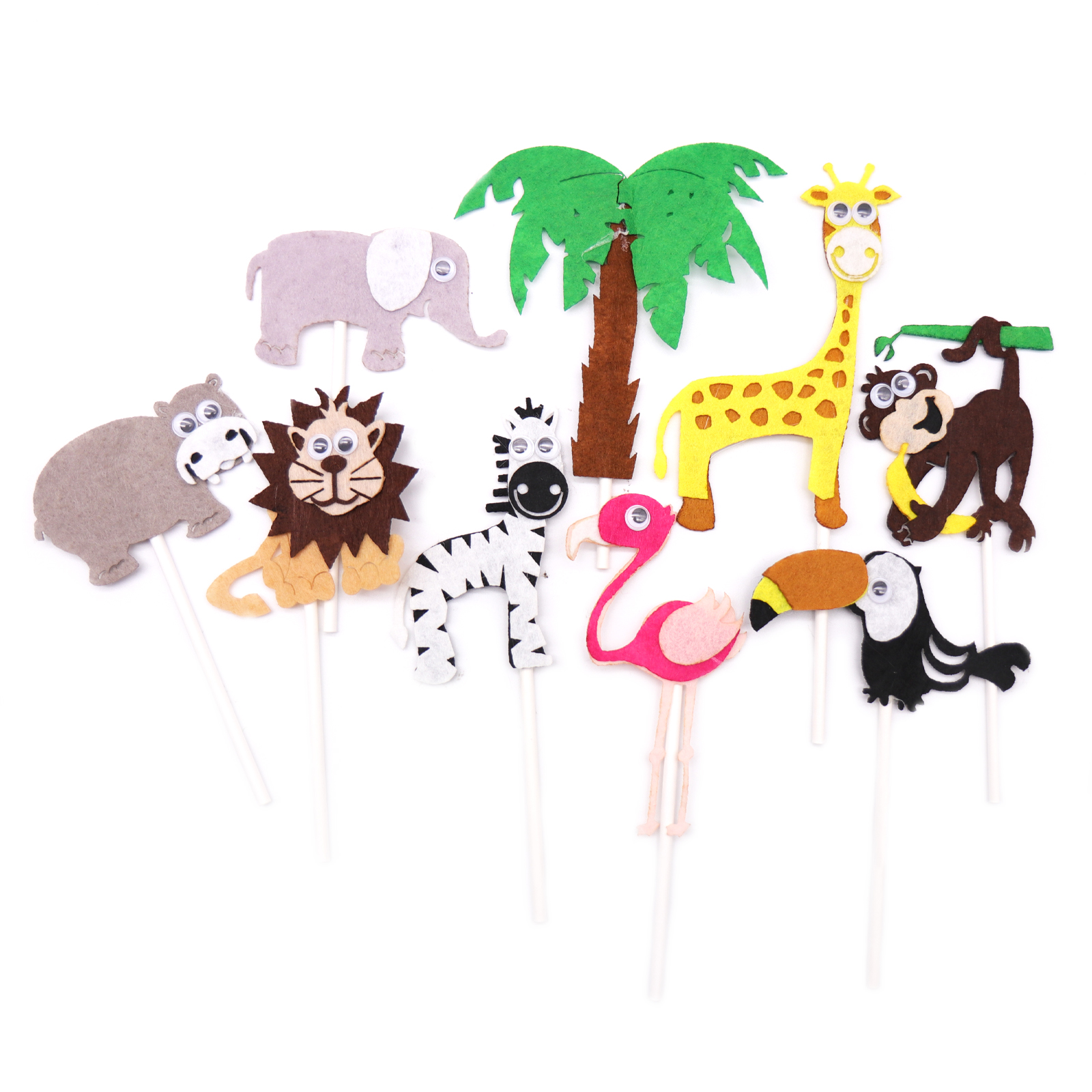 1pcs Birthday Cake Card Animal Cake Topper Kid Birthday Party Wild Animal Jungle Safari Party Supplies Jungle DIY Party Decor art