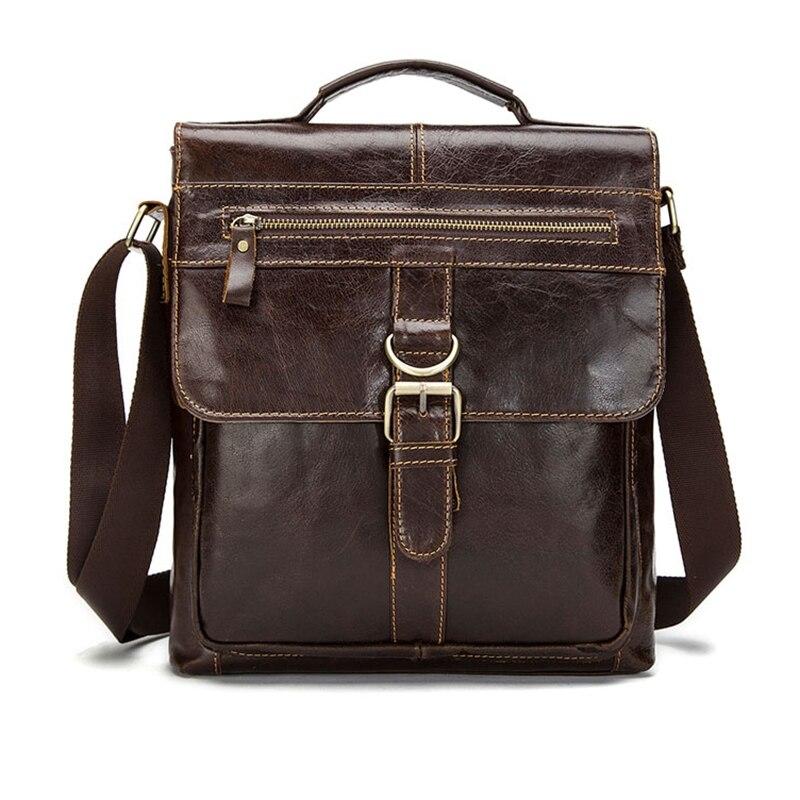TFTP-MVA Vintage Shoulder Bag Flap Crossbody Leather Briefcase Business Casual Bag