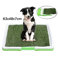 Indoor Pet Puppy Dog Cat Grass Pad Mat Training 3 tier Toilet Large Pet Cleaning Tray Outdoor Loo Urine Toilet Holder