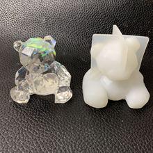 DIY Crystal drip Silicone mold Paddington geometric three-dimensional bear  gypsum mould material car decoration paddington bear all day
