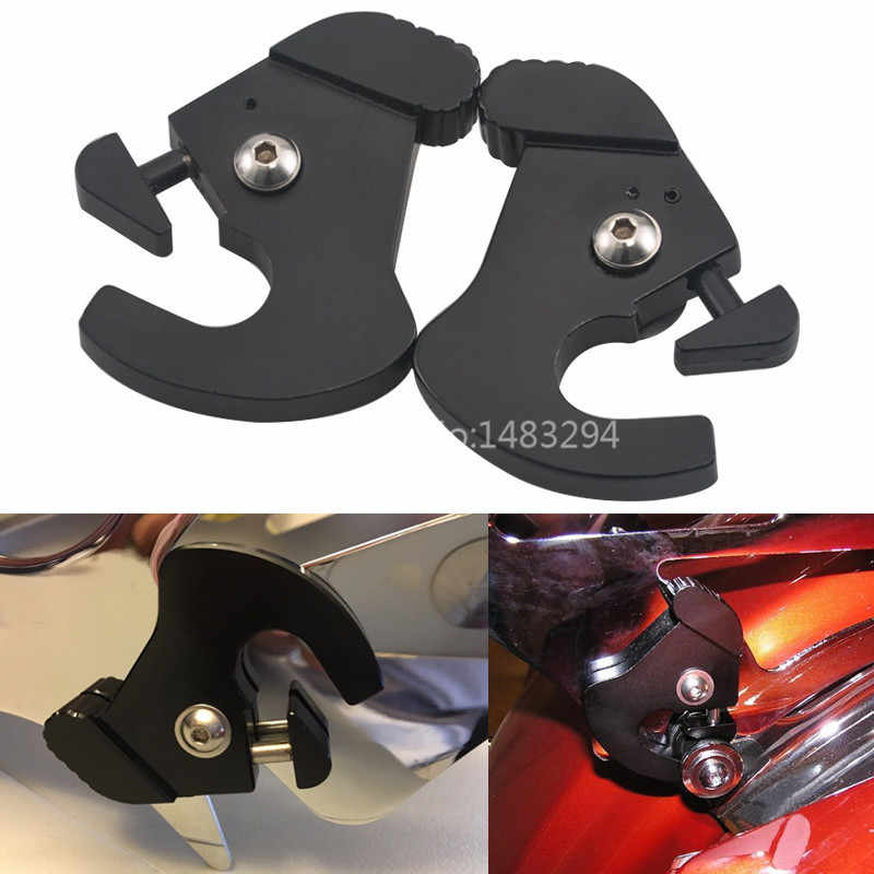 Detachable Sissy Bar Luggage Rack Latch Clip Kit Set Mount Compatible with Harley Touring
