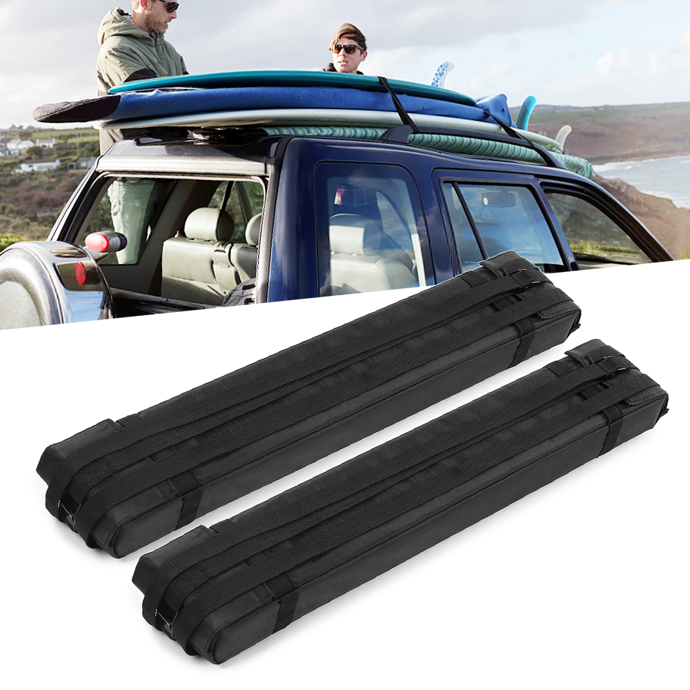 Surf Rack For Car >> Us 49 82 40 Off 2pcs Soft Foam Block Roof Rack Bars For Car Rooftop Kayak Surfboard Cargo Carrier Snowboard Sup Board Racks Pads In Surfing From