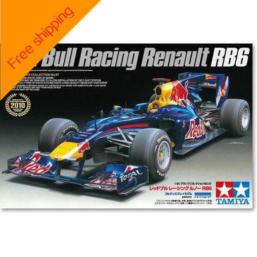 Tamiya Assembly Model 1: 20 Red Bull Racing Team RB6 Formula Racing Plastic Kit Toy Collection Gift Free Shipping радиоуправляемая игрушка shenglong racing team red white 757879