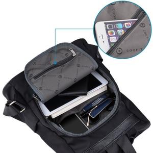 Image 5 - Coofit Tasarımcı Bayan Marka Sırt Çantası Moda Naylon Su Geçirmez Anti Hırsızlık kadın Çantası mochila escolar okul sırt çantası